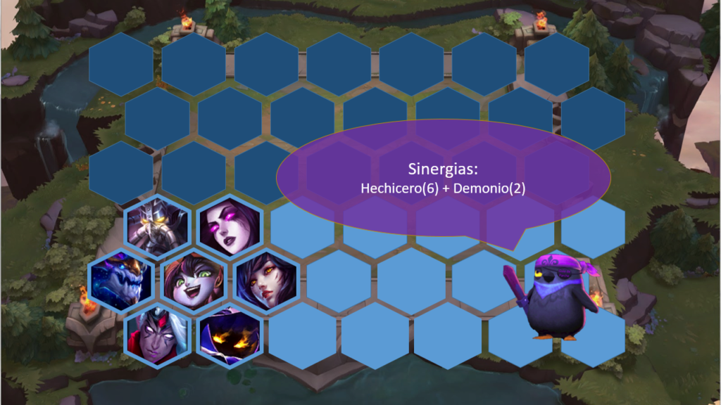 Hechiceros Demonios posicionamiento TFT
