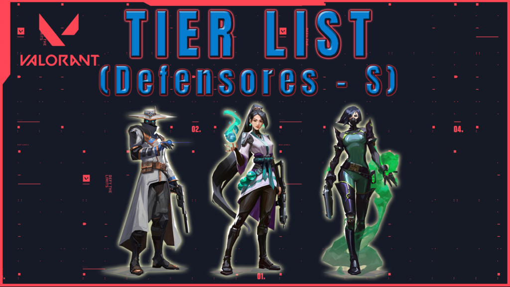 Tier list de Agentes Valorant Defensor Tier S