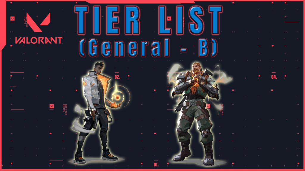 Tier list de Agentes Valorant General Tier B