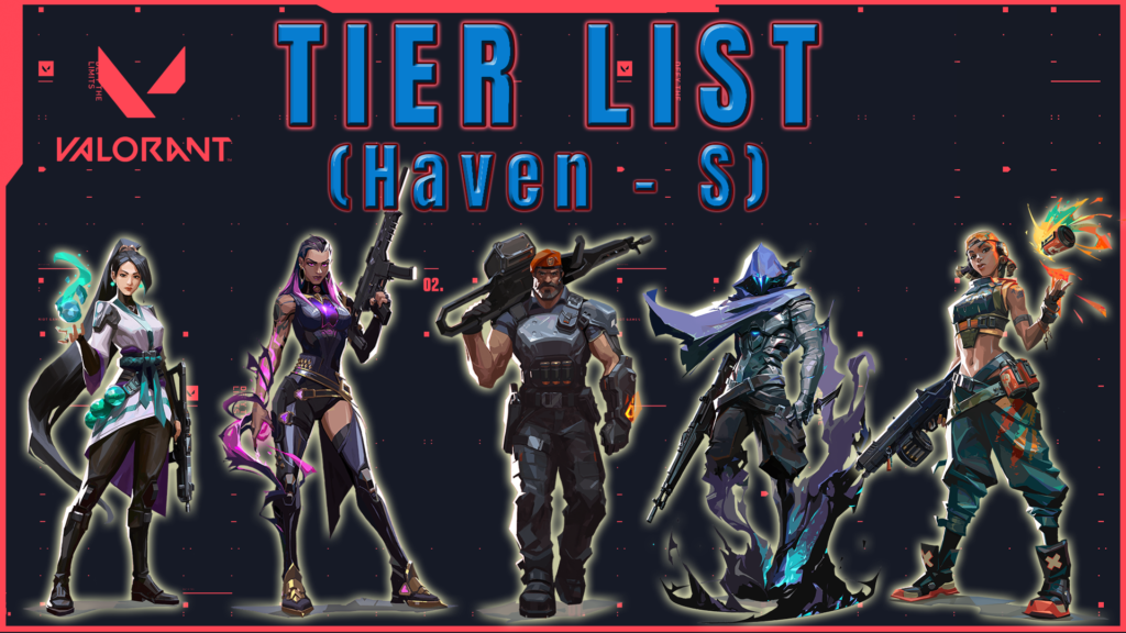 Tier list de Agentes Valorant Haven Tier S