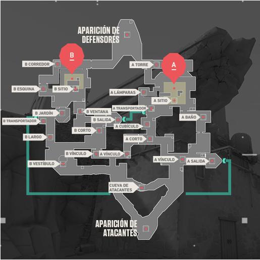 Mapa BIND Valorant