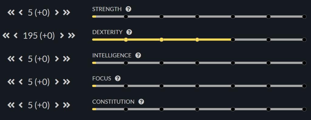 Atributos para DPS Rango Cuerpo a Cuerpo New World
