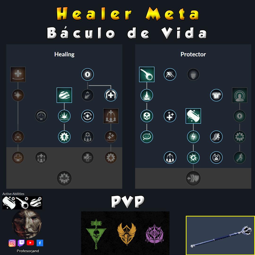 Healer Meta PvP Baculo de vida Maestrias New World
