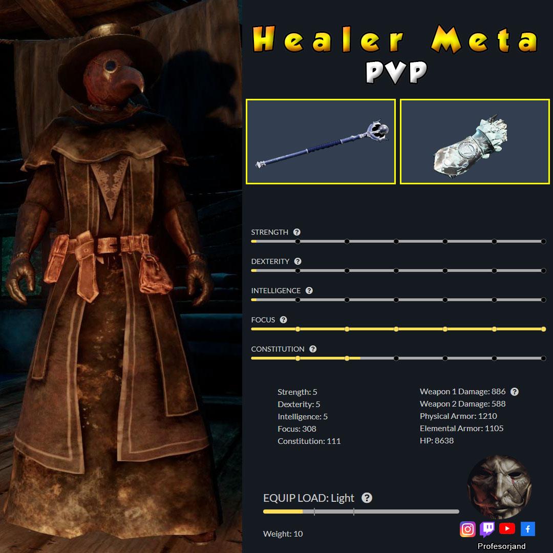 Healer Meta Baculo de VIda y Manopla de Hielo PvP New World