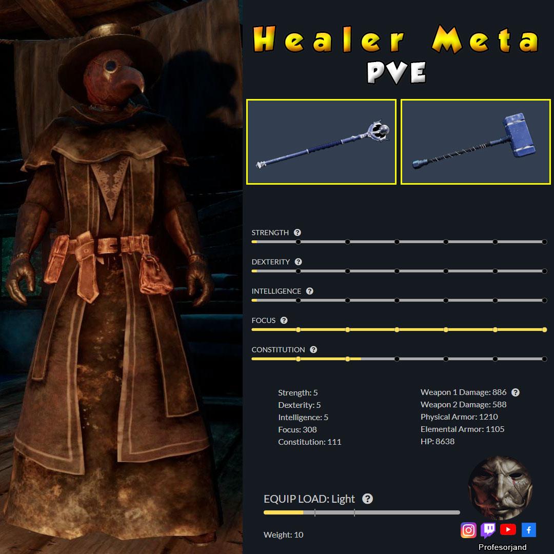 Maestrias Healer PvE New World Meta