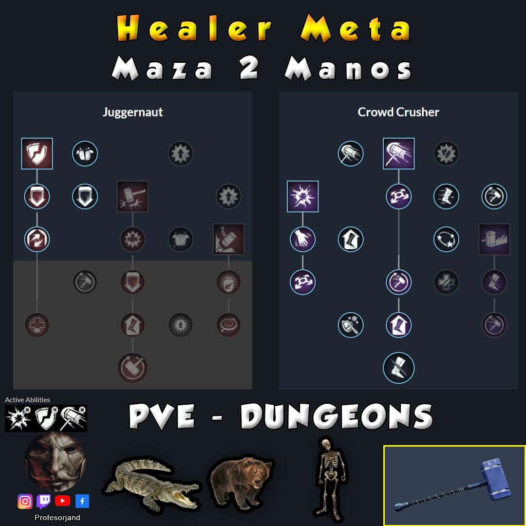 Maestrias Maza 2 Manos PvE Healer New World