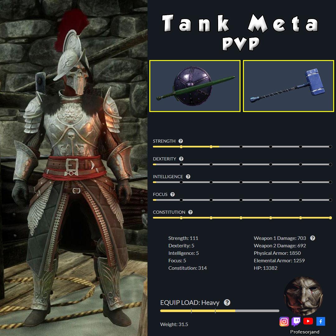 Tanke-Meta-Espada-y-Escudo-con-Maza-2-Manos-PVP1-Dungeon-New-World