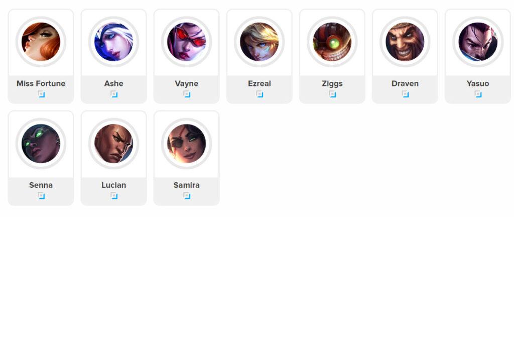 Tier List ADC 11.20 League of legends lol